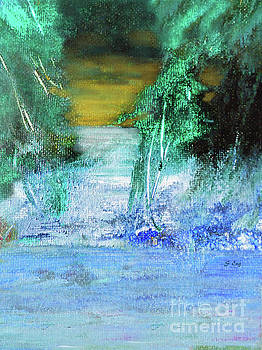 Winter Night Landscape 300 by Sharon Williams Eng