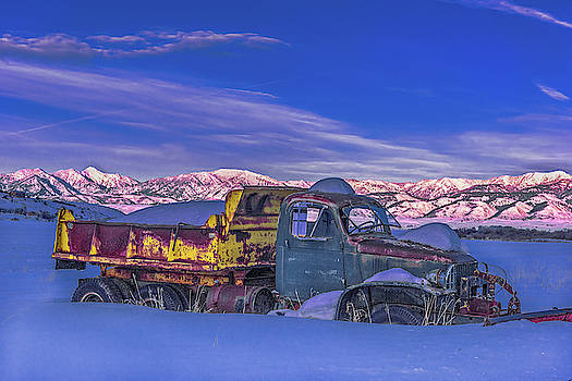 Winter Rest for Old Truck by Barbara Hayton