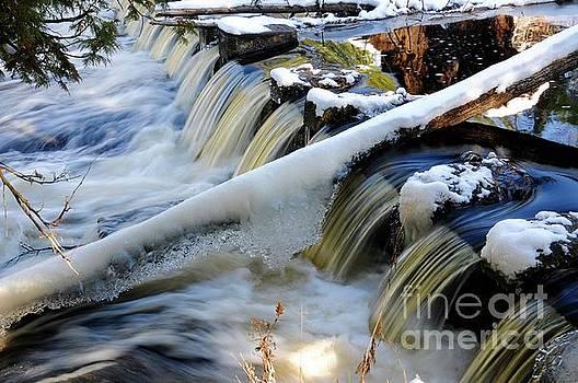 Winter River Flows by Sandra Updyke