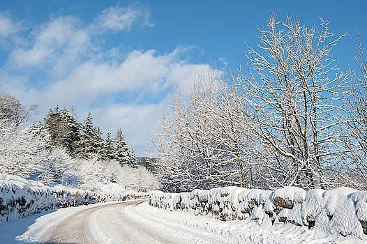 Winter Road on Dartmoor by Helen Northcott