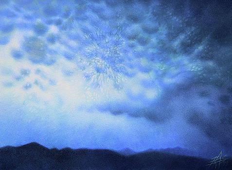 Robin Street-Morris - Winter Storm or Mammatus Clouds over Black Mountain