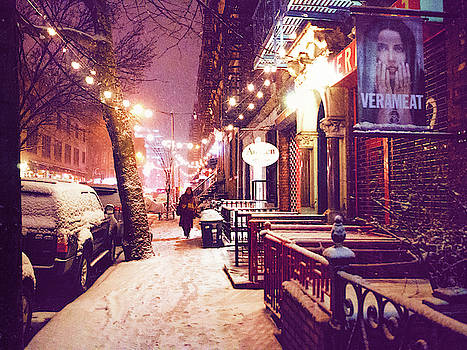 Winter Storm - Snow in the East Village - NYC by Vivienne Gucwa