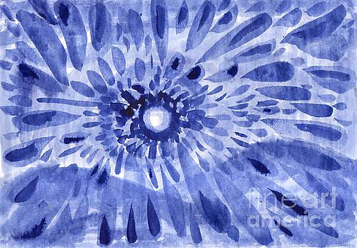 Winter sun. Abstract ink drawing on paper. by Irina Dobrotsvet