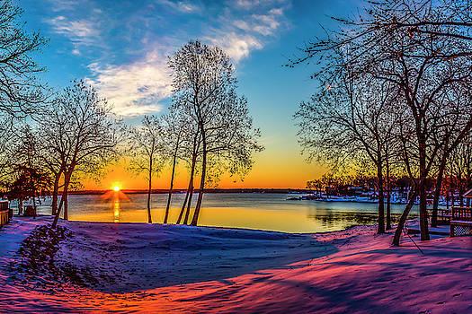 Winter Sunrise at East Bay by David Wagenblatt