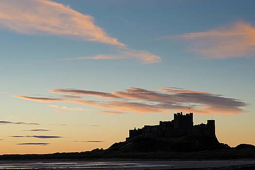 David Taylor - Winter sunrise - Bambrugh Castle