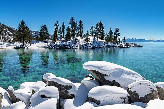Winter Wave - Sand Harbor Lake Tahoe by Brad Scott by Brad Scott