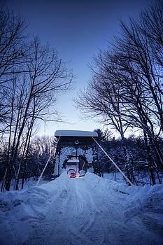 Wire Bridge in Winter by John Meader