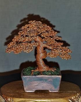 Wire tree #180 in annealed copper by Ricks Tree Art
