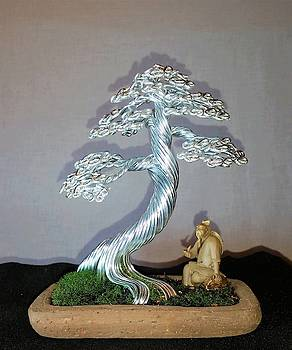 Wire tree in silver #182 By Rick Skursky by Ricks Tree Art
