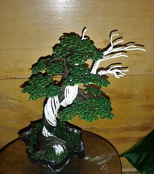 Wire tree sculpture #188 By Rick Skursky by Ricks Tree Art