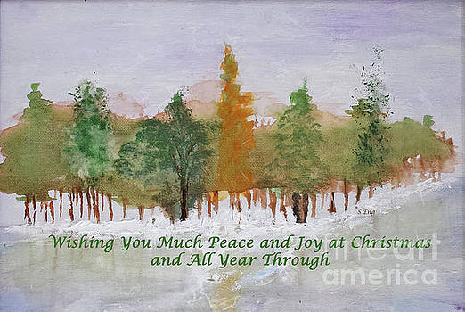 Sharon Williams Eng - Wishing You Peace and Joy Christmas Card 300