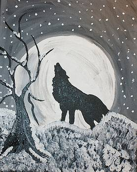 Wolf in Silhouette  by Yvonne Sewell