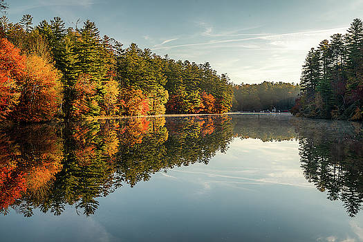 Wolf Lake Morning Reflection by Donnie Whitaker