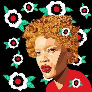Woman and Flower by Lynnda Rakos