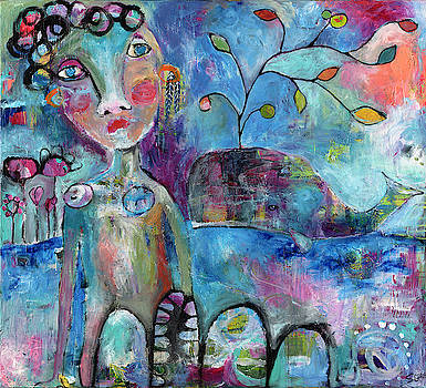 Woman and Whale by Susie Lubell