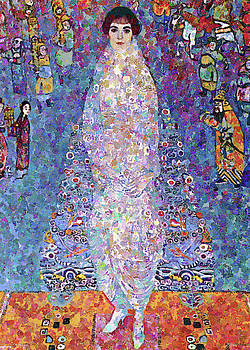 Woman In Blue Array by Georgiana Romanovna