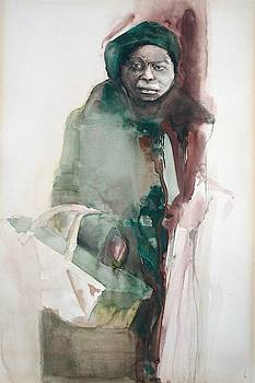 Woman with Basket by Lois Hogg