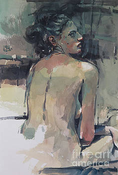 Woman with Earring by Tony Belobrajdic
