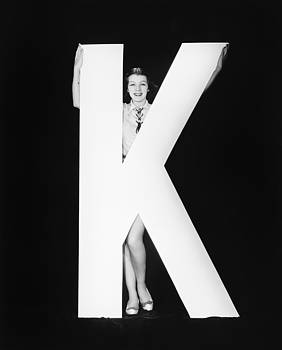 Woman With Huge Letter K by Everett Collection