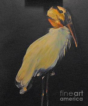 Wood Stork by Saundra Johnson