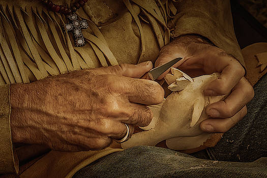 Woodcarver by Guy Whiteley