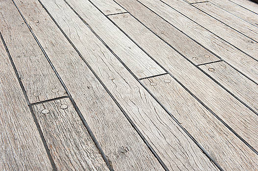 Wooden Decking Planks by Helen Northcott
