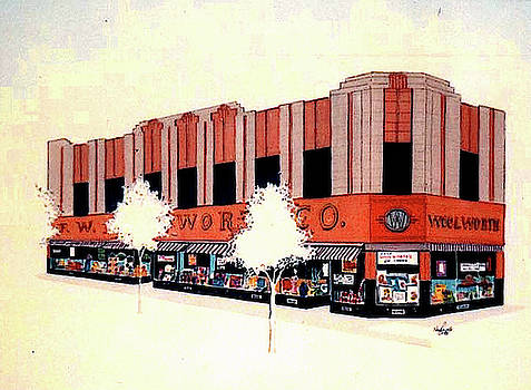 Woolworth on Market St. by William Renzulli