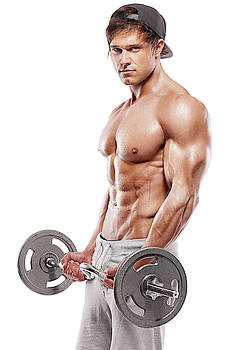 Male Vision - Working Out With Dumbbells