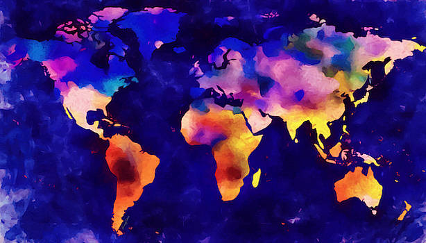 World Map by Stacey Chiew