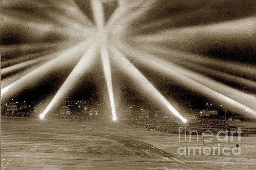 California Views Archives Mr Pat Hathaway Archives - World War II-era anti-aircraft spotlights.  December 1941, calif