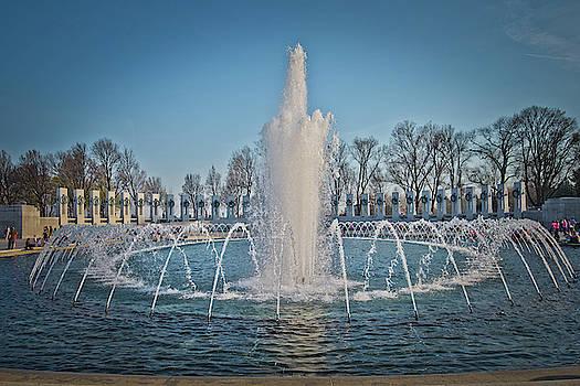 World War II Marine Monument Washington D.C. by Dawn Wayand