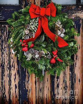 Wreath on Door by Alana Ranney