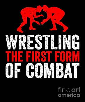 Wrestling First Form Of Combat Silhouette White Red Gift Light by J P