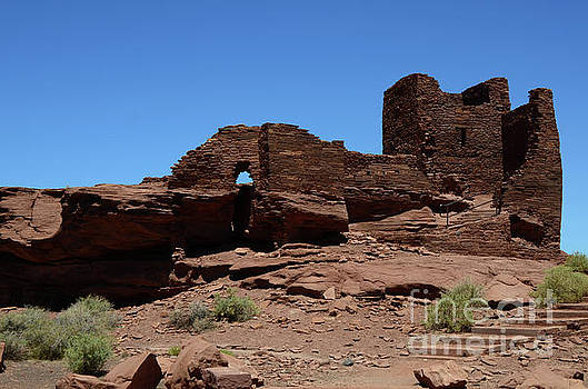 Wupatki National Monument Citadel Ruins  by Debby Pueschel
