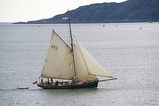 Yacht on Plymouth Sound by Chris Day