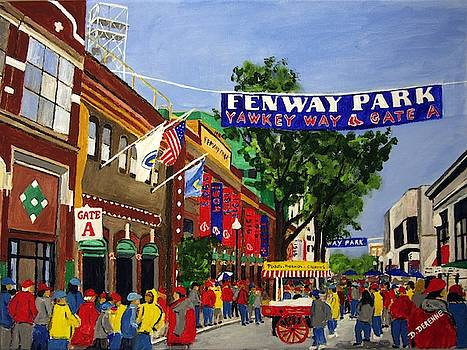 Yawkey Way on Opening Day by Dominique Derenne