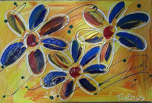 Yellow Daisies  by Tina Cross