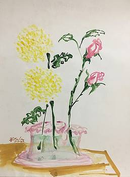 Yellow Mums and Pink Roses by Ricardo Penalver