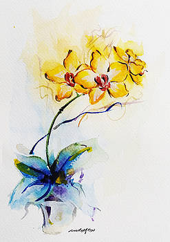 Yellow Orchid by Rowena Delfter