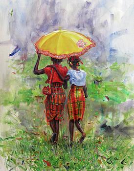 Yellow Parasol by Jonathan Guy-Gladding JAG