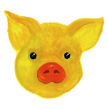 Yellow pig by Dobrotsvet Art
