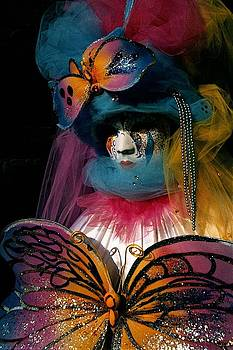 Yellow Pink Blue Butterfly by Donna Corless