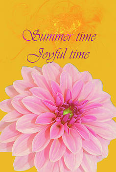 Yellow Pink Summer Time Joyful Time by Johanna Hurmerinta
