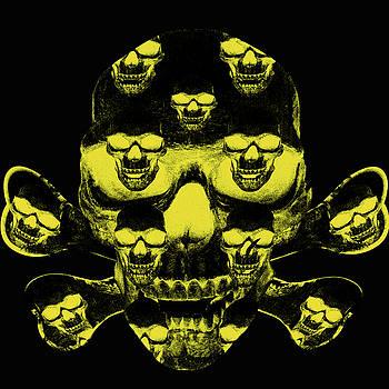 Yellow skull and crossbones by Ivanoel Art
