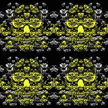 Yellow skull pattern by Ivanoel Art