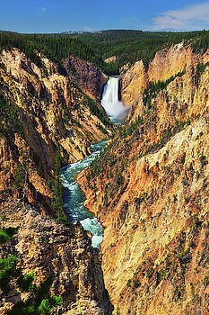 Yellowstone Grand Canyon From Artist Point by Greg Norrell