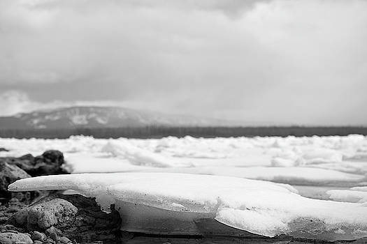 Yellowstone Lake Winter Shoreline View by Bruce Gourley