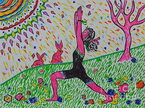 Yoga on the Grass by Heather McFarlane-Watson