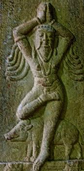 Yogi at Menakshi Temple, Madurai, India by David Wells