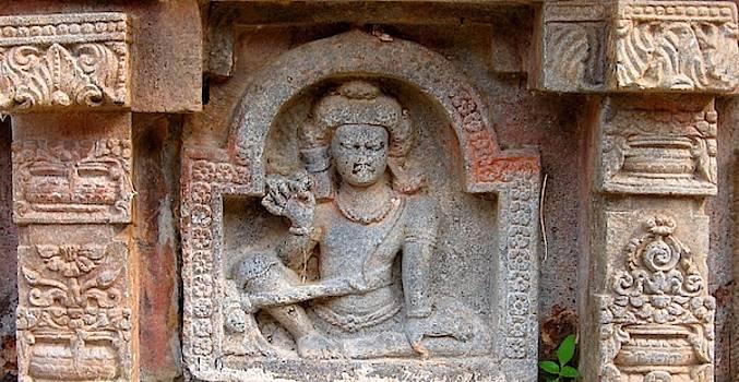 Yogi with Strap at Nalanda University, Bihar, India by David Wells